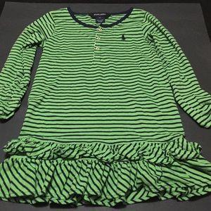 Ralph Lauren green/blue ruffle dress! Size 5